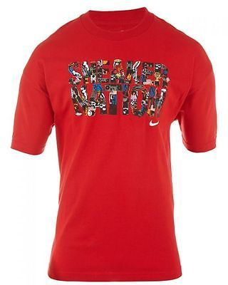 NIKE ACTIVE MEN'S T-SHIRT  Mens T-Shirts 473988-648 RED/PRINT SZ-XL
