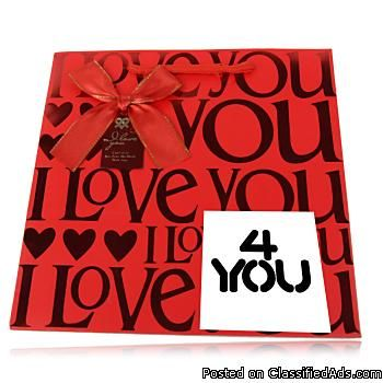 Promotional I Love You Jumbo Paper Gift Bag Whole In
