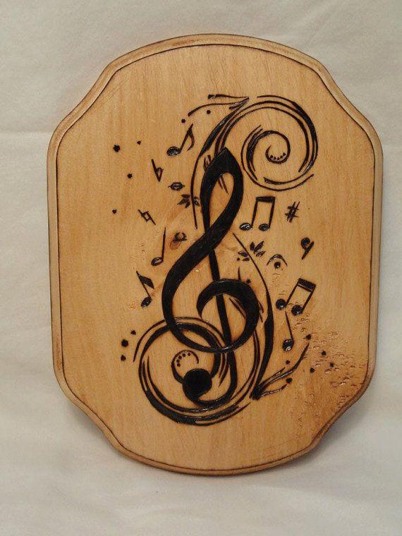 Wood Burned Music Note By BrittanyShaye On Etsy 2200