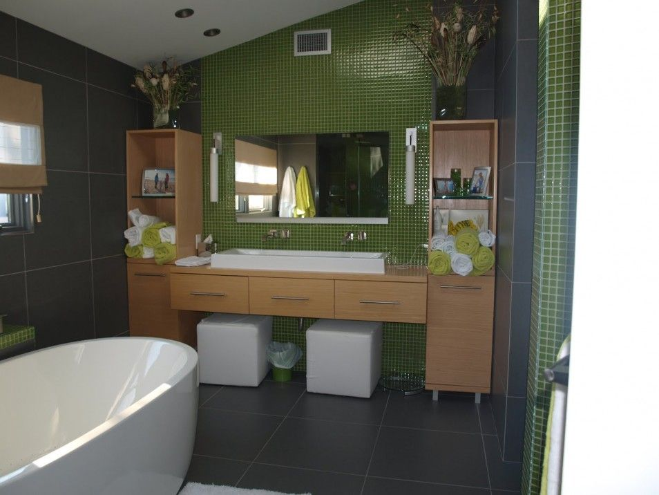 Green And Gray Bathroom Ideas Part - 25: Green Bathroom Breathtaking Decoration Ideas Bathroom Awesome Bathroom  Wooden Lime Green Bathroom Accessories Set Bathroom Green