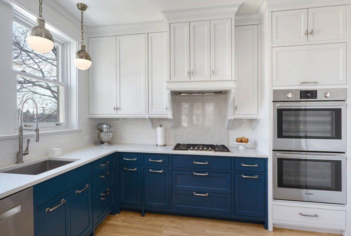 24 Blue Kitchen Cabinet Ideas To Breathe Life Into Your Kitchen Blue Kitchen Cabinets New Kitchen Cabinets Kitchen Cabinets For Sale