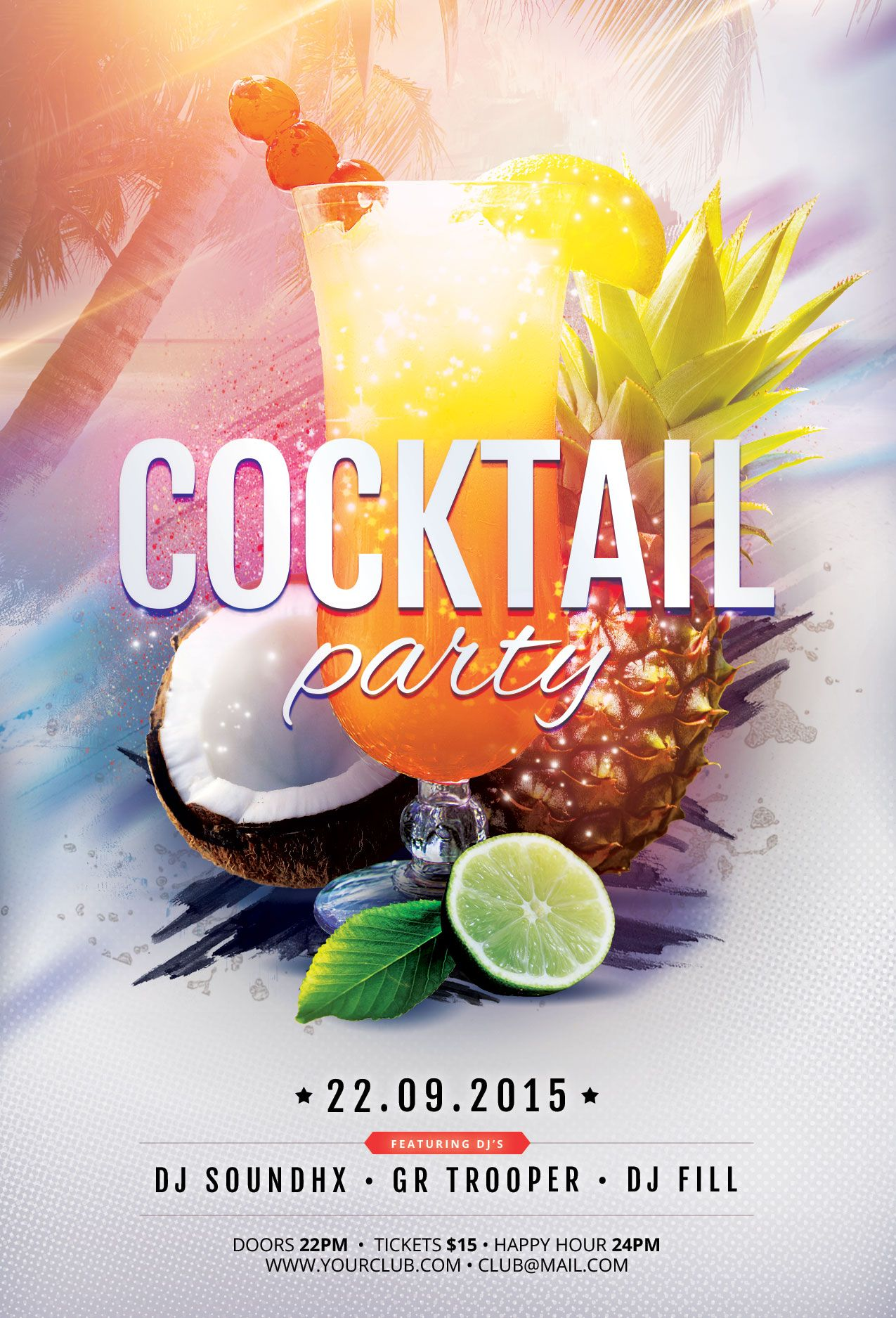 Cocktail party flyer template download psd file 6 cocktail party flyer template download psd file 6 saigontimesfo