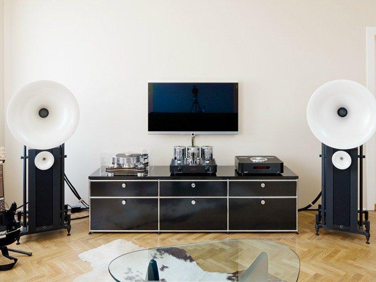 meuble tv composable laqué en métal collection usm haller home by ... - Meuble Tv Composable Design
