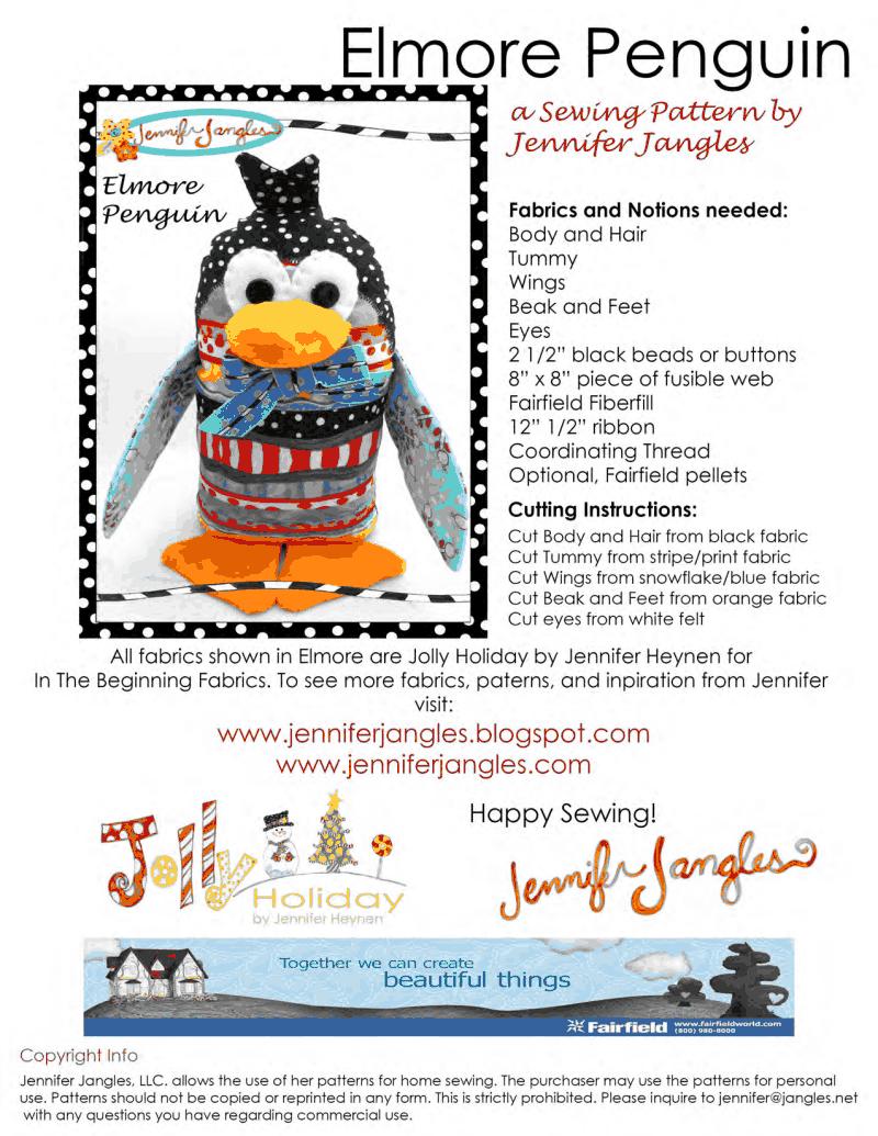 Elmore Penguin Sewing Pattern.pdf - free diy stuffed toy | Stuffed ...
