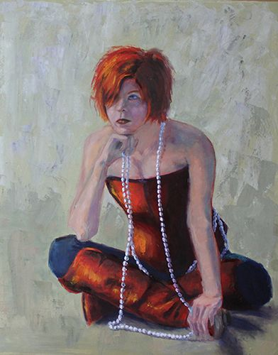 """""""The Thinker"""" #Artist Maria Bennett Hock's pensive portrait is part of a photo article on """"Portraits & Figures"""" ~ see more at www.ArtsyShark.com"""