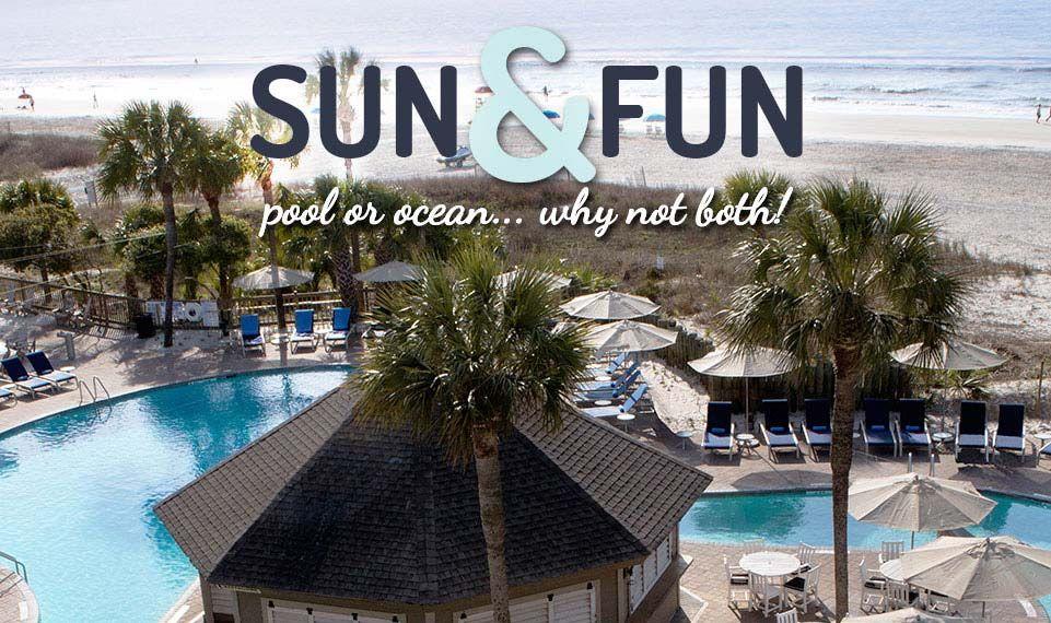 Hilton Head Island Hotels Beachfront Holiday Inn The Beach House Sc