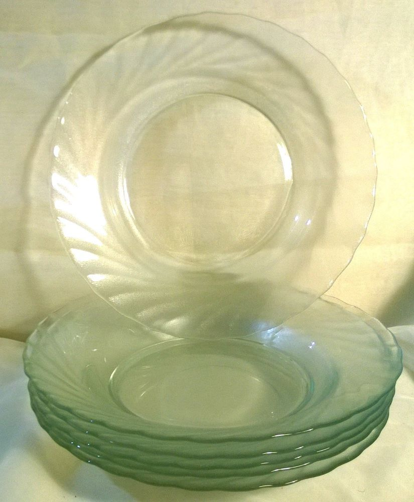 Arcoroc | France | Vintage | Set Of 6 | ClearBrook | Clear Glass Swirl Plates | #arcoroc #clearbrook #plates : arcoroc aspen dinnerware - pezcame.com