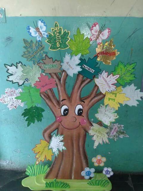 Arbol de valores maquetas y trabajos escolares pinterest for Donde venden papel mural