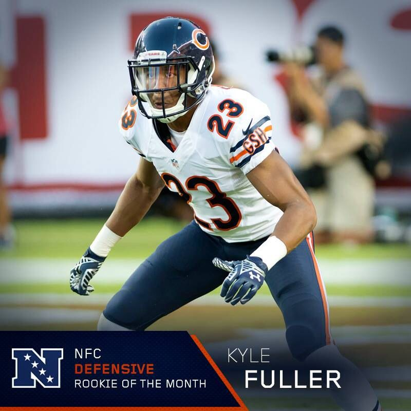 NFC DEFENSIVE ROOKIE OF THE MONTH KYLE FULLER Chicago