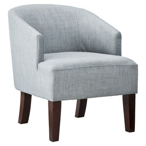 Threshold Barrel Chair Gray Blue Could Swap Out The Legs