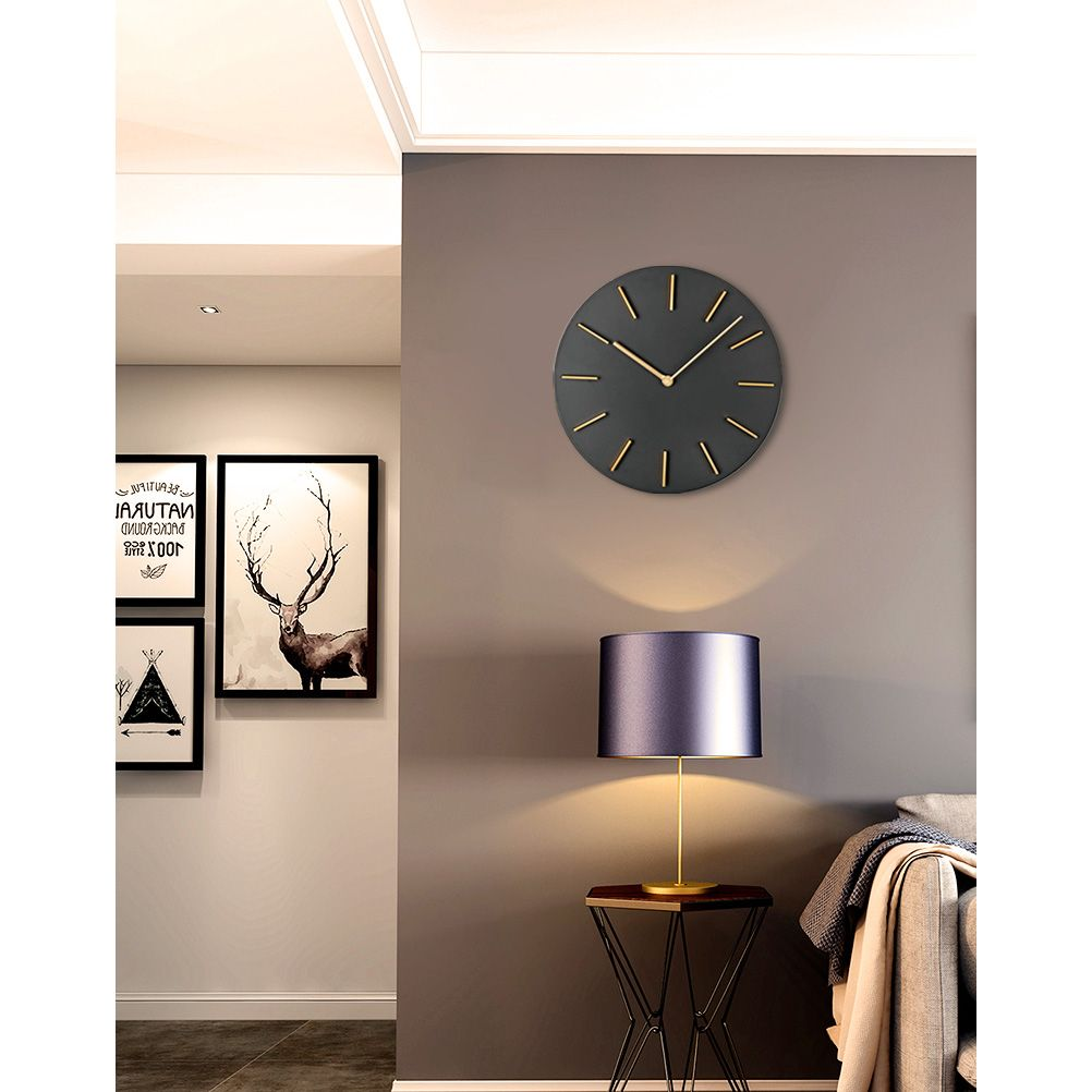 Motini 11 Inch Round Creative Quartz Wall Clocks Wall Clock Modern Modern Modern Design