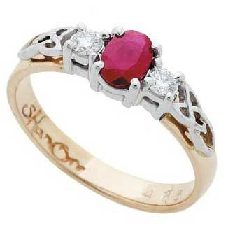 ruby diamonds celtic knot ring With this ring Pinterest
