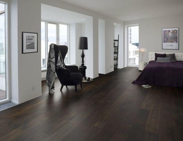 Dunkler Boden Stil Schoner Wohnen Schlafzimmer Wohn Schlafzimmer Wohnen