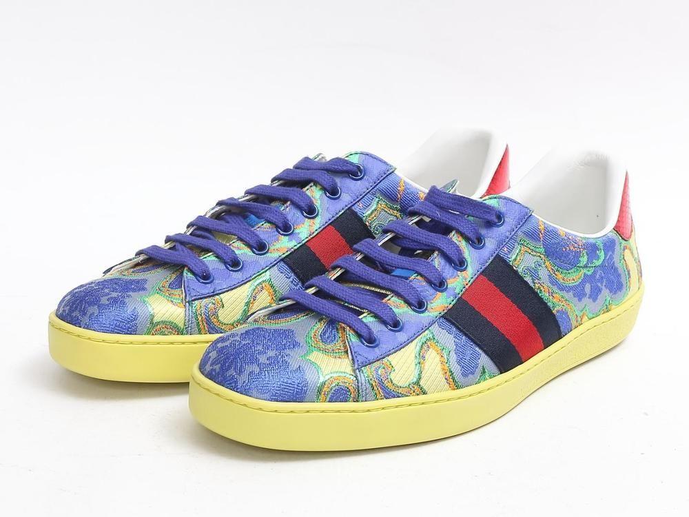 0d124d667607f7 eBay  Sponsored GUCCI Fashion Sneakers Yellow Multicolor Canvas FS US10.5  UK10 EU44.