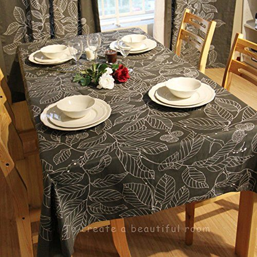 Tre The Dark Leaf Pattern Cloth Table Cloth Black Coffee Table