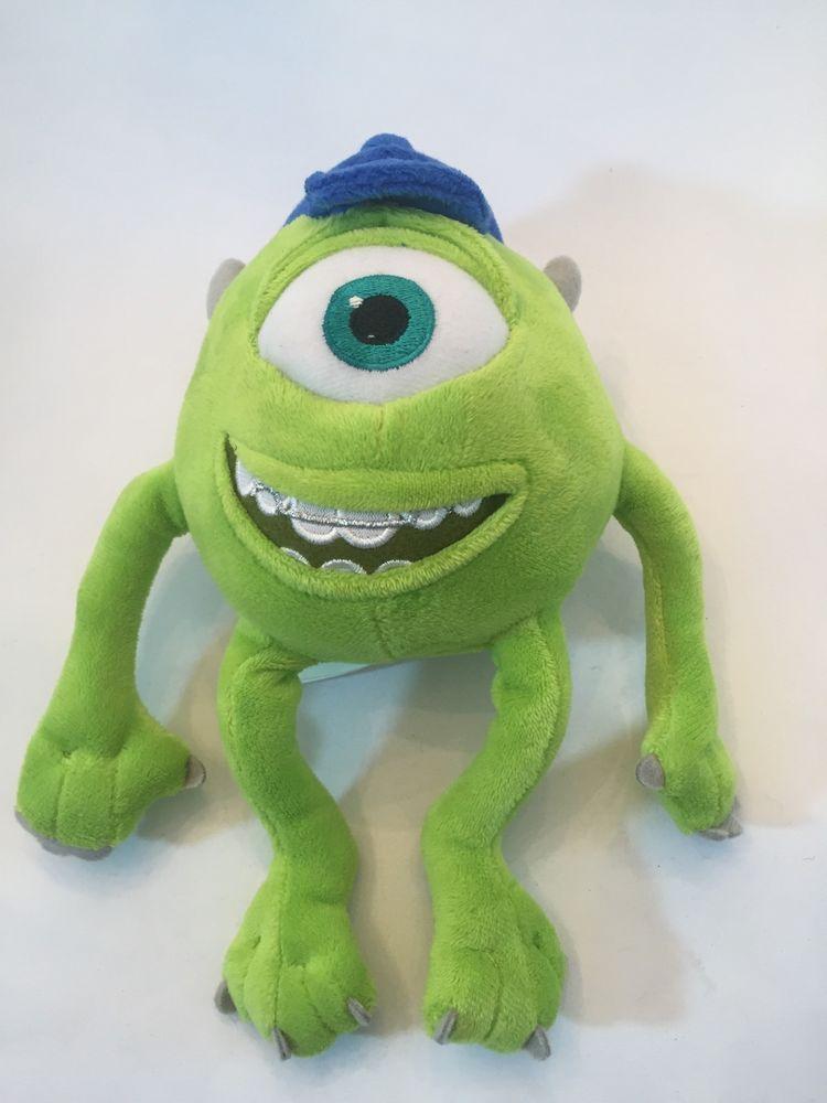 Disney S Monsters University 10 Inch Plush Mike Wazowski Wearing Blue Mu Hat Mike Wazowski Peluches Personajes