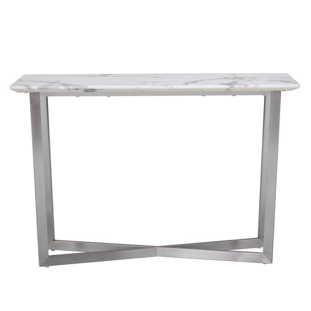 Stupendous Southern Enterprises Abilene White Contemporary Faux Marble Pabps2019 Chair Design Images Pabps2019Com