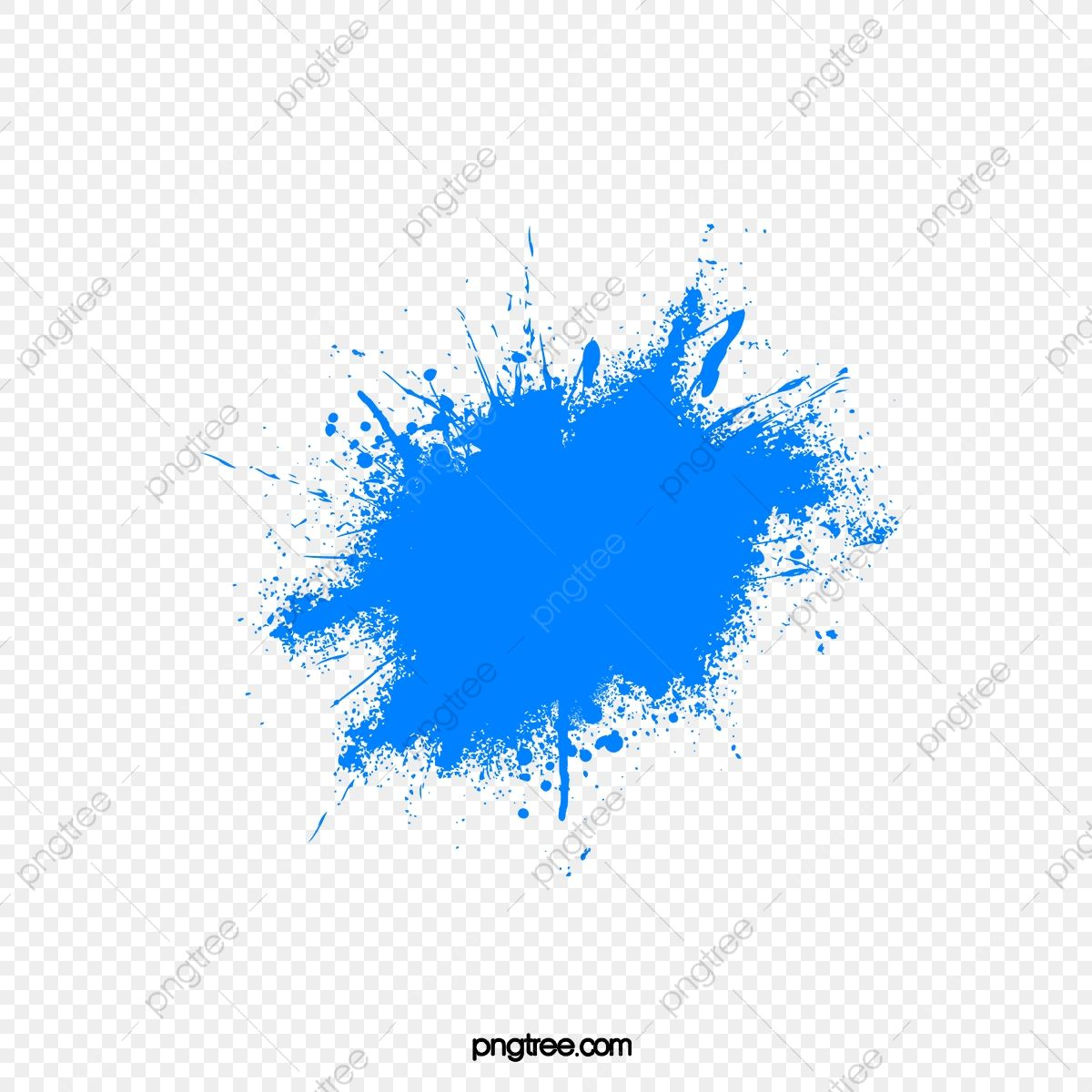 Blue Paint Splash Blue Splash Pigment Png And Vector With Transparent Background For Free Download Paint Splash Blue Paint Watercolor Splash