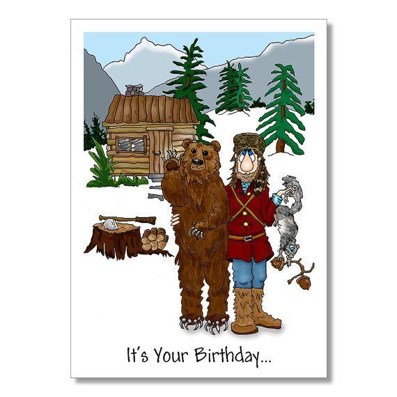 Wilderness man birthday card mountain man outdoors man birthday wilderness man birthday card mountain man by yoyogreetings on etsy 375 bookmarktalkfo Gallery