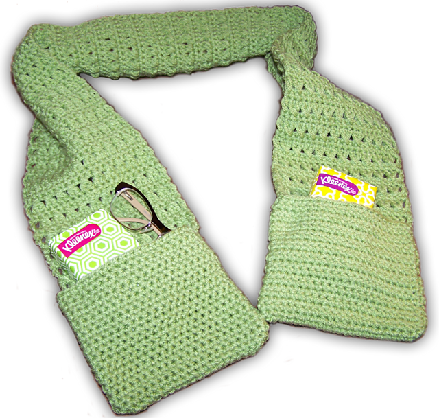 Free Download. Ravelry: X Stitch Scarf with Pockets pattern by ...
