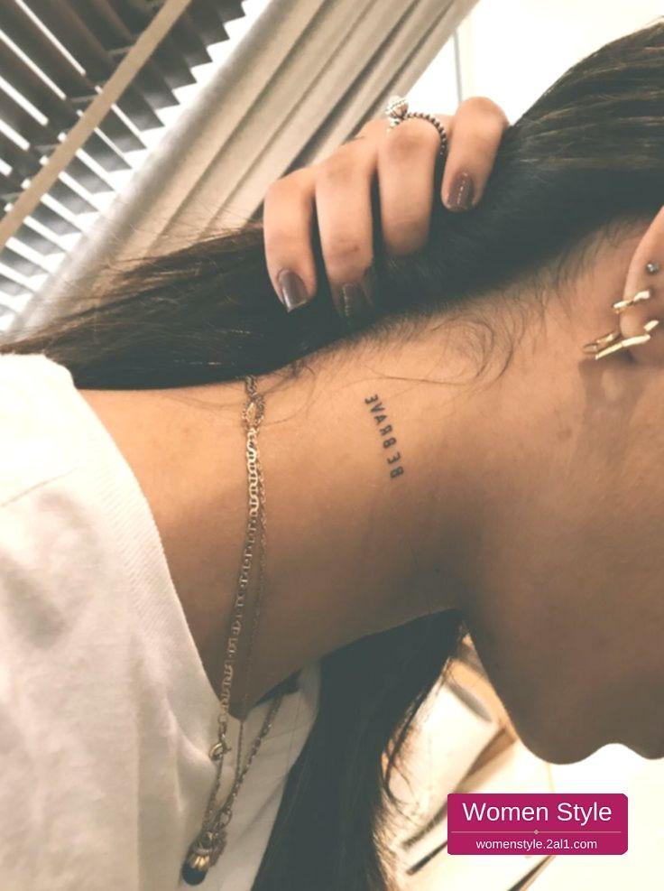 31++ Astonishing Small neck tattoos black female image HD