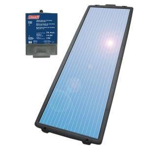 Coleman 18 Watt 12 Volt Solar Battery Charging Kit 58033 At The Home Depot Solar Battery Solar Kit Solar Electric