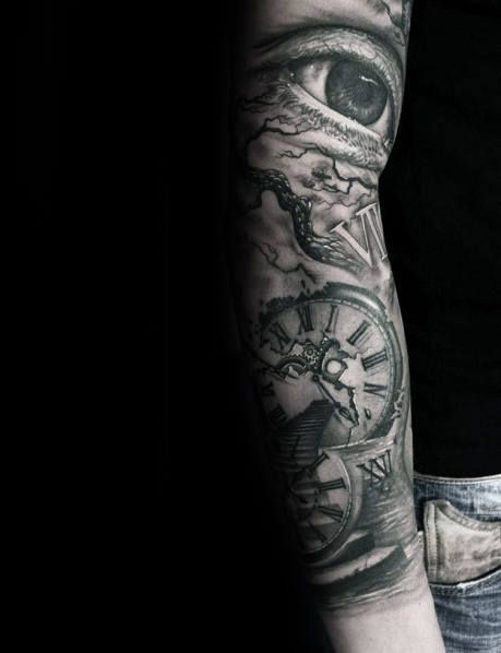43e59b461 100 Roman Numeral Tattoos For Men - Manly Numerical Ink Ideas | Tats ...