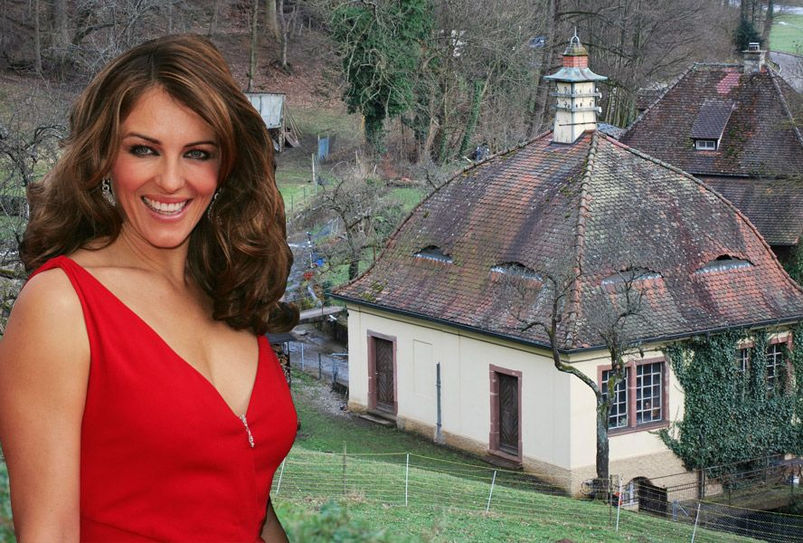 Concrete Gold Liz Hurley Sells Her Estate For Three Times The Price Celebrity Houses Socal Real Estate Estates