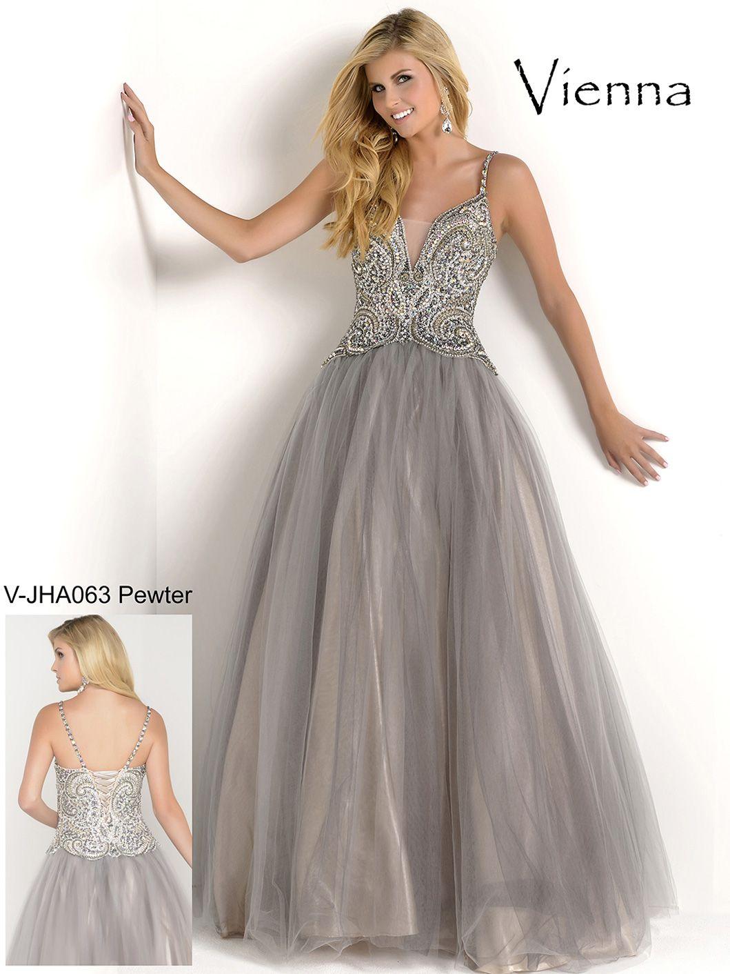 Spaghetti Strap Beaded Top Formal Prom Dress Vienna Jha063 Prom Dresses High Neck Prom Dress Formal Dresses Prom [ 1412 x 1059 Pixel ]