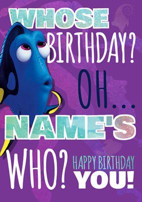 Finding Dory Birthday Card Who Girl Birthday Cards Finding Dory Birthday Dory Birthday