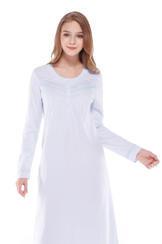Ladies Women/'s Nightwear Nightshirt Sleepwear 100 /% Cotton