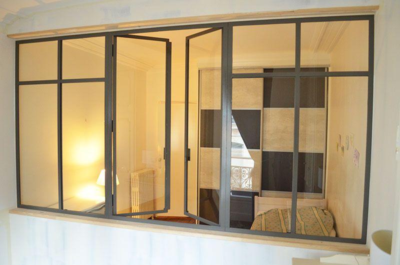 verriere-interieure-chambre-salon-grise | Verrières | Chambre salon ...