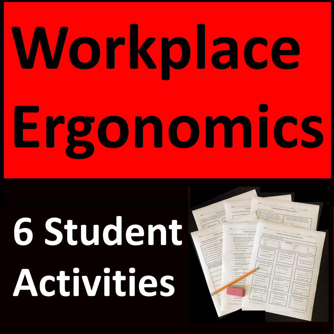 Workplace Ergonomics Activities Distance Learning