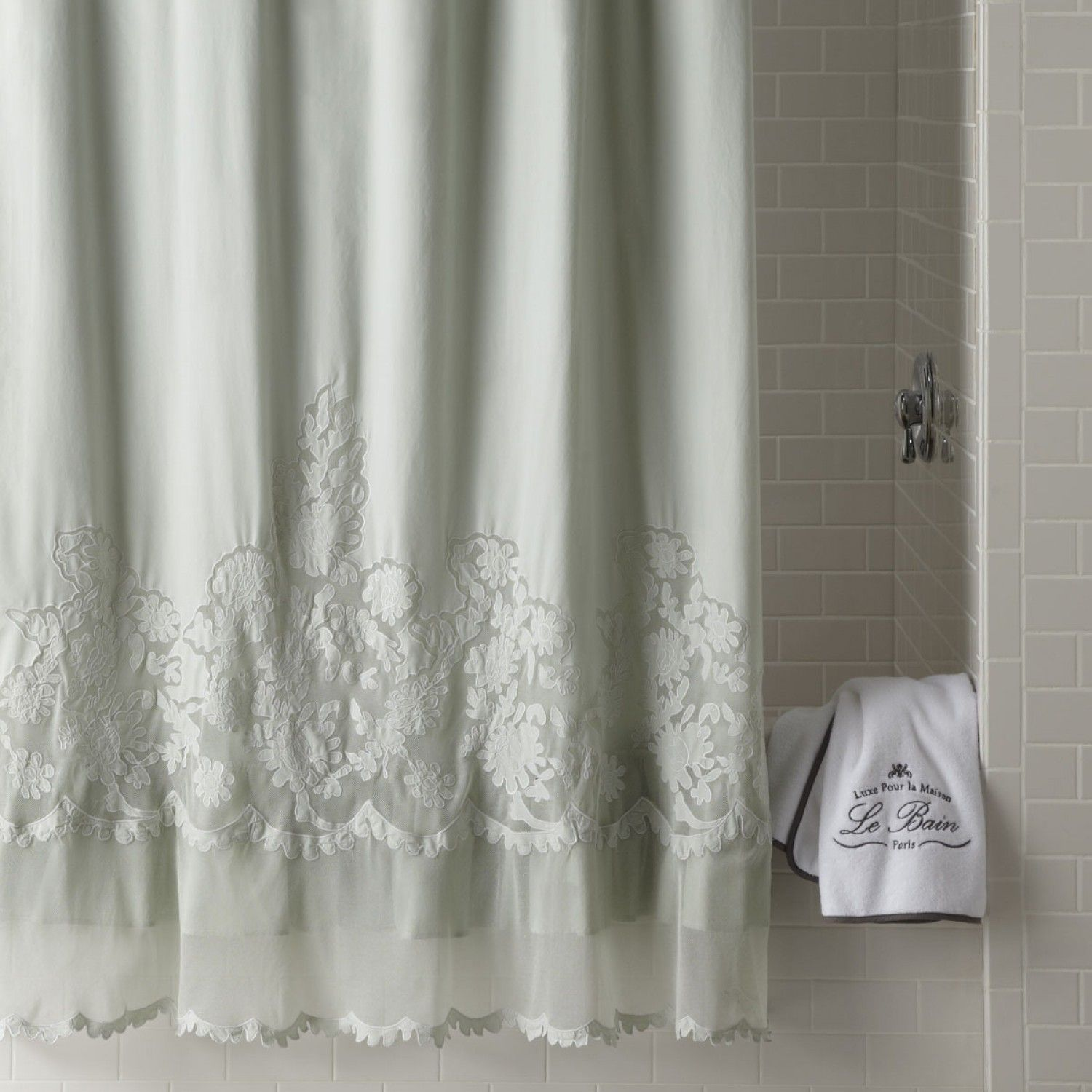 White shower curtain ideas - Best Shabby Chic Shower Curtains Target