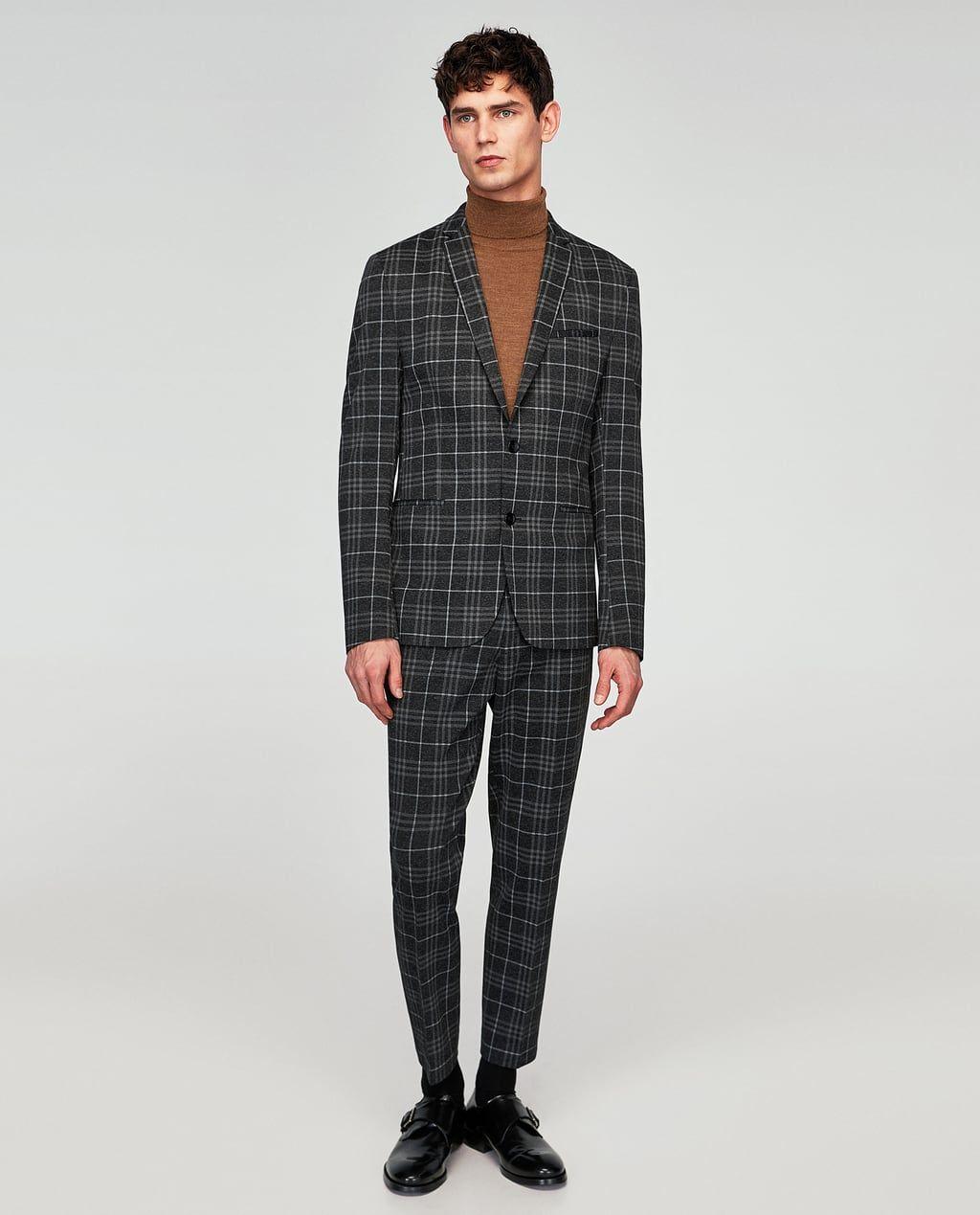 Veste de costume à motifs texturés en all over slim fit