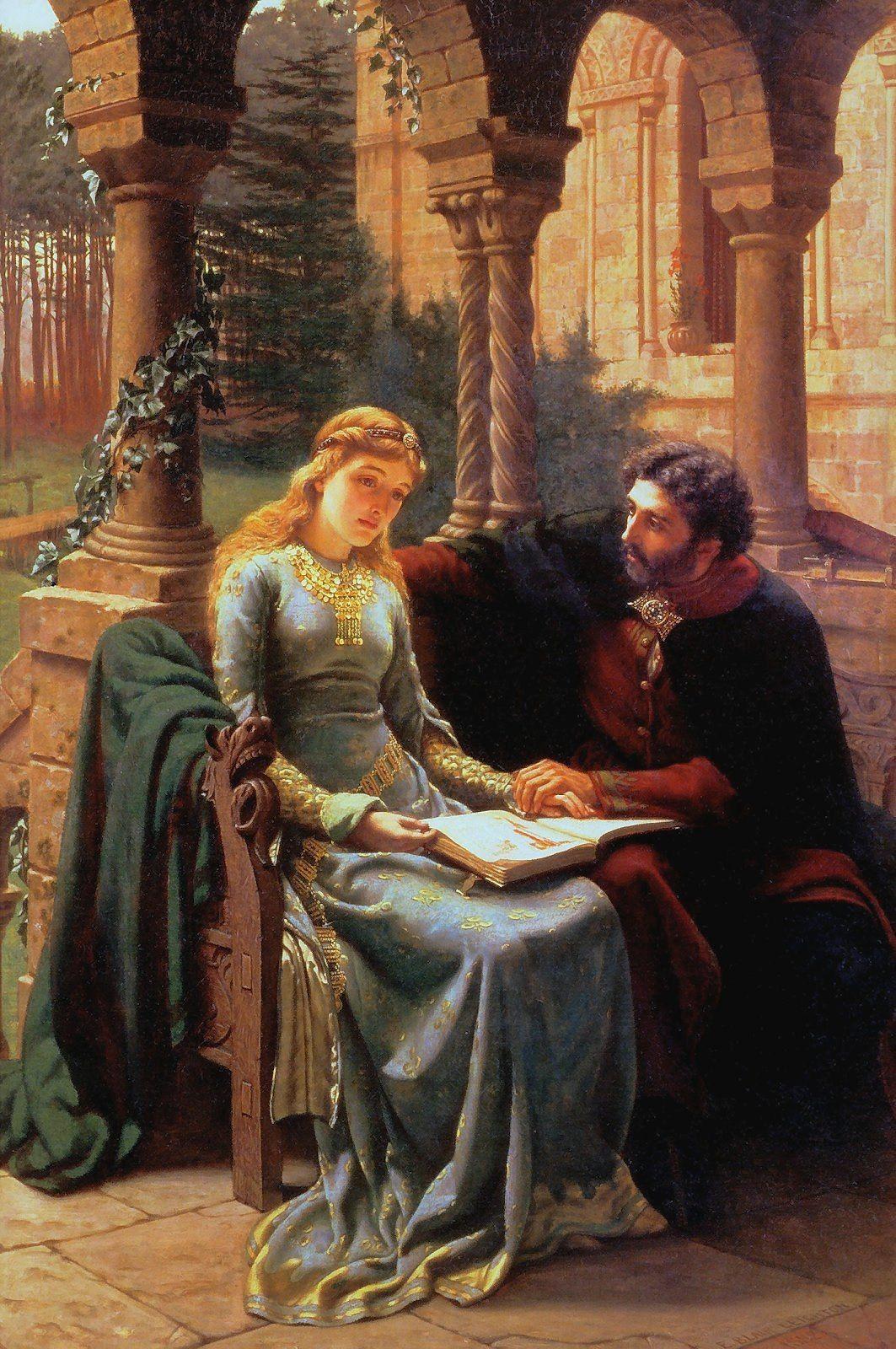 Leighton Edmund Blair Abelard And His Pupil Heloise Historical Painting Famous Art Romantic Art