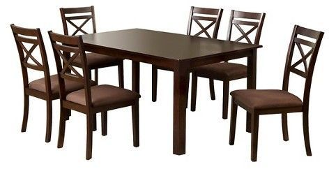 Remarkable Iohomes Dallas 7Pcs Dining Table Set Wood Espresso Brown Home Interior And Landscaping Ologienasavecom