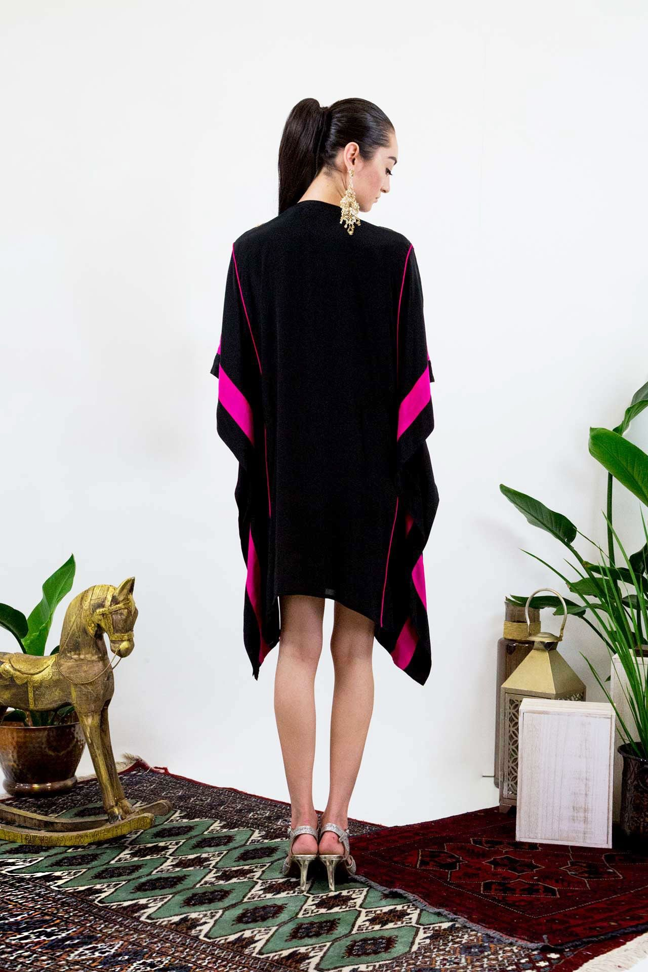 23f0271f53 Pink Floral Embroidered Short Kaftan in 2019   Designer Kaftans ...