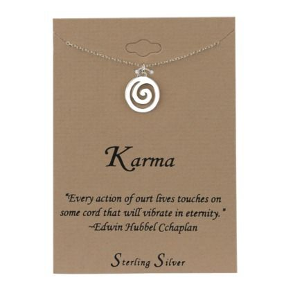 Sterling Silver Karma Necklace 16 00 Accentuations