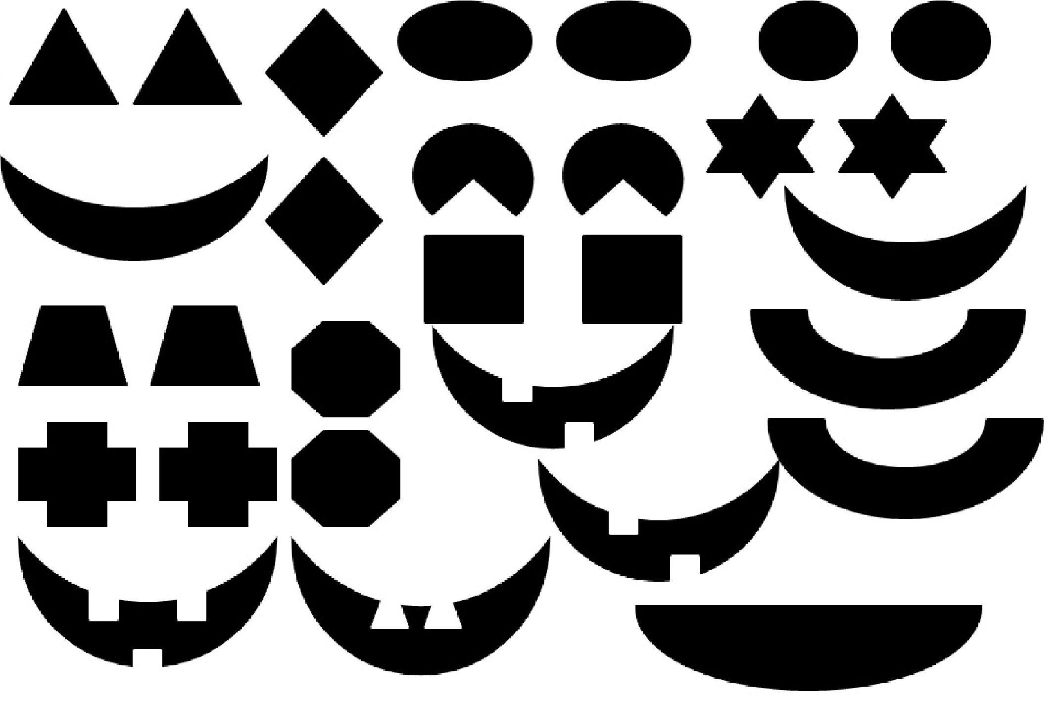 template jack o lantern eyes  Matching Craft with Jack-O-Lanterns | Jack o lantern faces ...