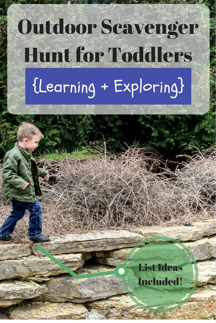Toddler Scavenger Hunt Outdoors - Easy way for your toddler to learn colors, numbers, shapes and much more!  Outdoor Toddler Activities // Toddler Scavenger Hunt //  Learning activities for Toddlers // Outdoor fun for toddlers // free activities for kids //