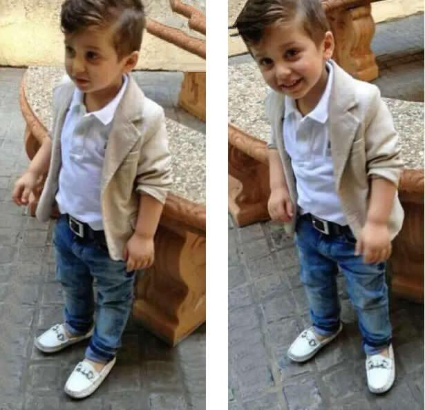 cb4d5189352c Details about 3pcs Boys Baby Toddler Kids Gentleman Coat Shirt Jeans ...