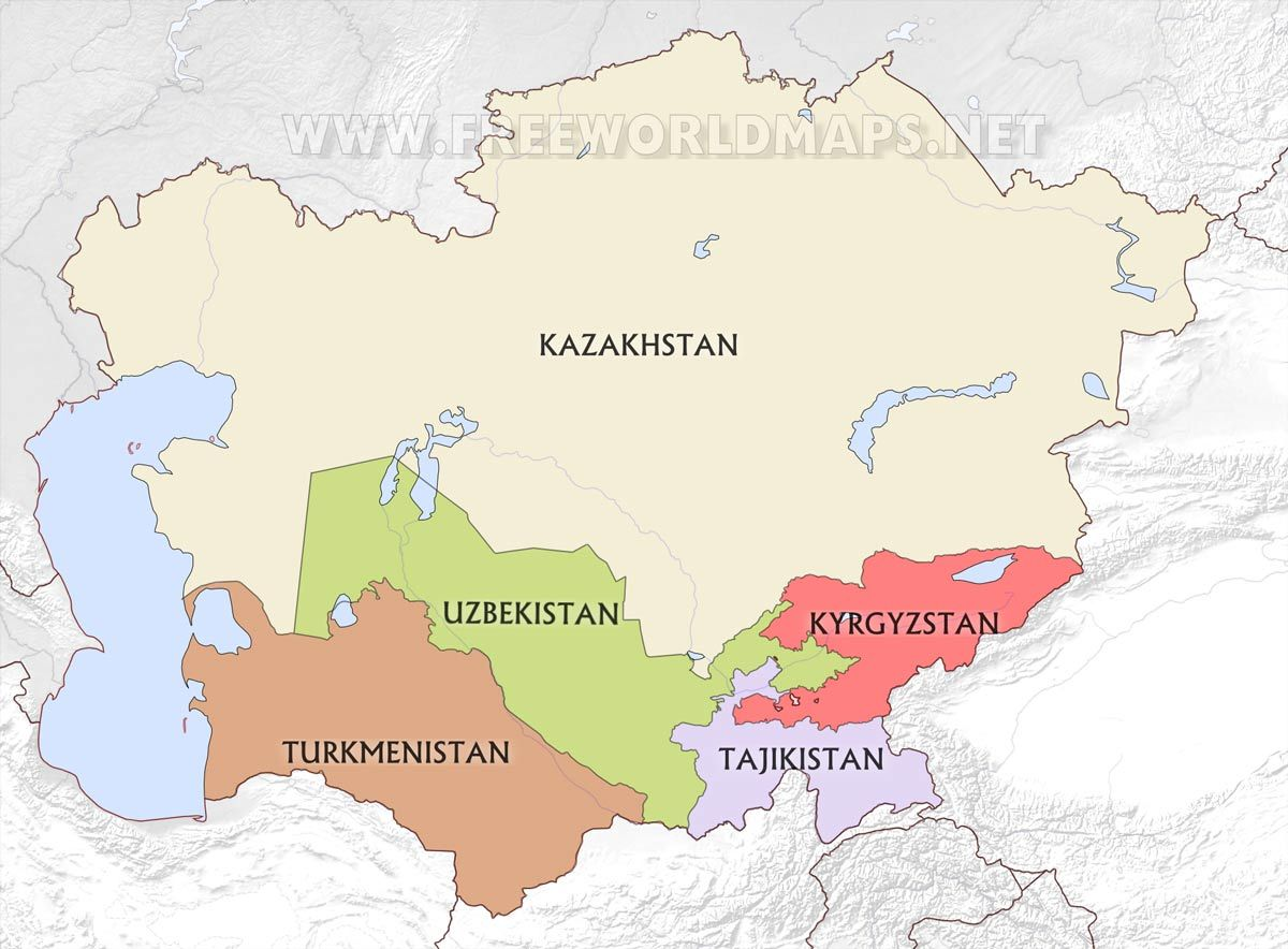Centralasiacountriesmapjpg Project Book Pinterest - Central asia political map