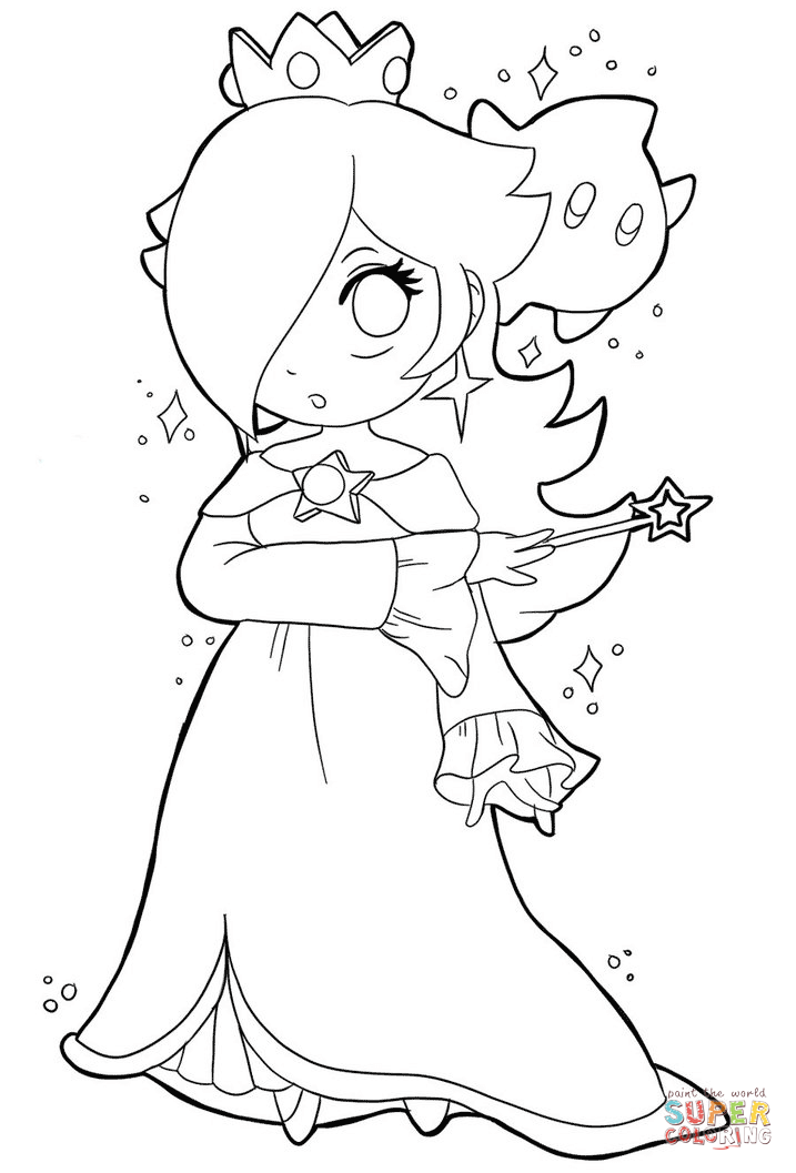 Cute Baby Rosalina Coloring Page Free Printable Coloring Pages Mario Coloring Pages Elsa Coloring Pages Coloring Pages