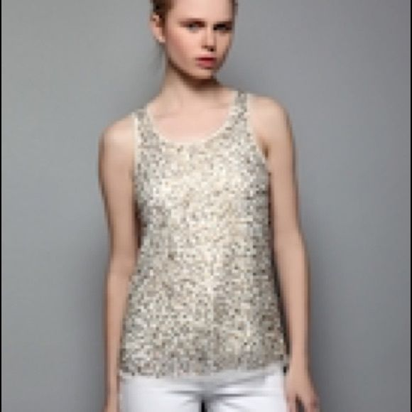 a44a1251956ef Gryphon Gold Sequin Tank Medium Like New Stunning Gryphon Gold embellished  tank. Medium. Gorgeous top. Stunning on. Like new. Gyphon Tops Tank Tops