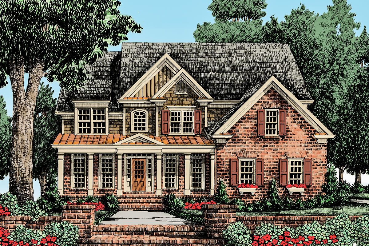 Plan 710102btz Traditional Exterior Paired With An Open Interior In 2020 Country Style House Plans Traditional House Plans American Houses