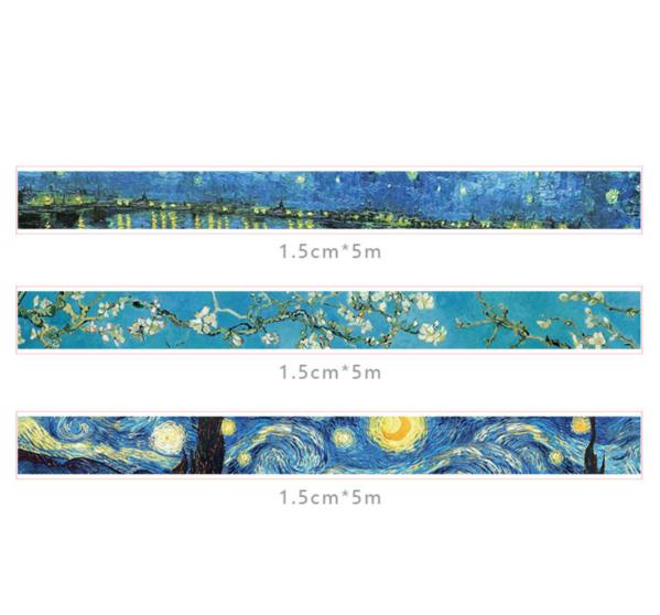 Van Gogh Washi Tape Set Washi Tape Set Washi Tape Kawaii Pens