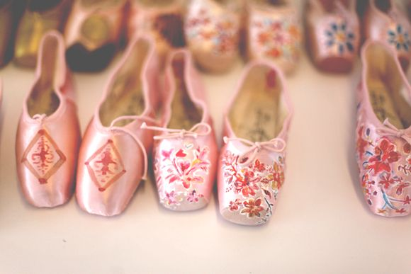 Hand Painted Ballet Slippers
