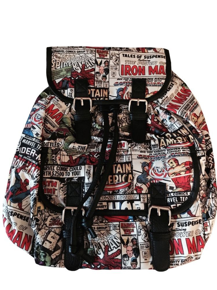 NEW OFFICIAL Marvel Comics Classic Comic All-Over Print Backpack Rucksack Bag