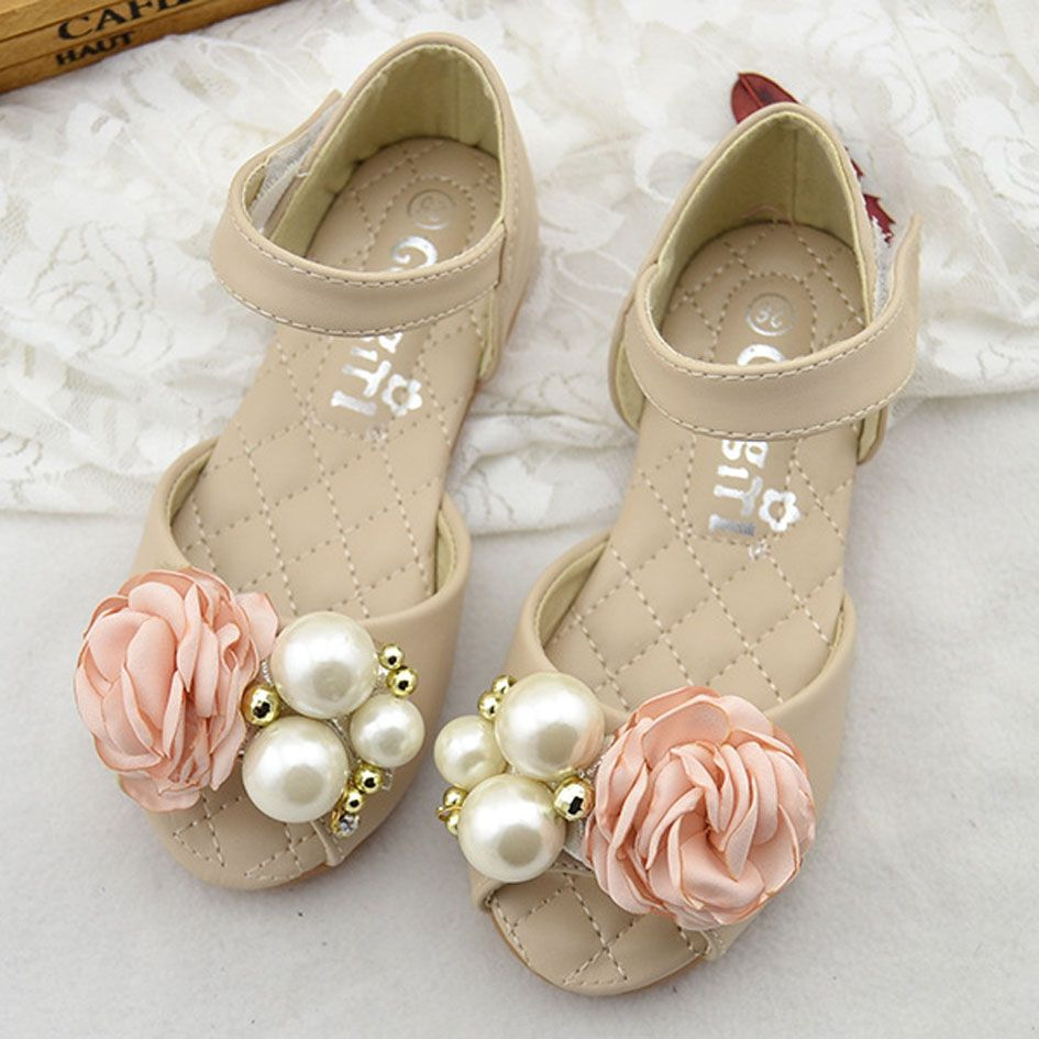 Cheap Toe Buy Quality Sandals Directly From China Open Shoes Suppliers 2017 Luxury Girls Flower Peep Pearls Kids Wedding